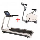 Tunturi Pure Bike 6.0  Hometrainer + Tunturi Pure Run 4.0 Loopband Combideal