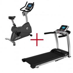 Life Fitness F3 Advanced loopband + Life Fitness C1 Go Hometrainer Combideal (gebruikte modellen)