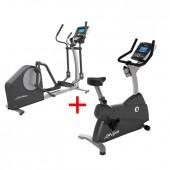 Life Fitness Crosstrainer X1 Go + Life Fitness C1 Go hometrainer combideal